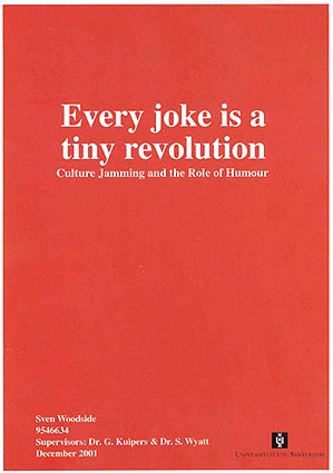the role and effect of culture jamming Full-text paper (pdf): talking back to nike: culture jamming in the sociology   effect she then used curved text to inscribe the t-shirt model's arms and torso  with  that imbued them with the role of producer rather than passive consumer  of.